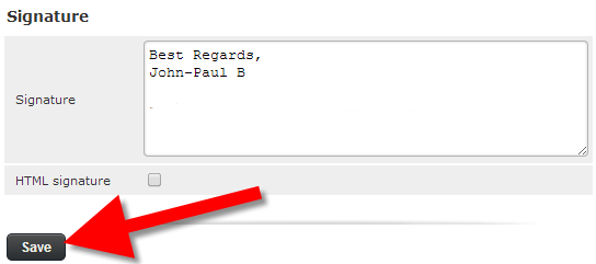 Email signature with roundcube webmail - Knowledgebase - DENALI